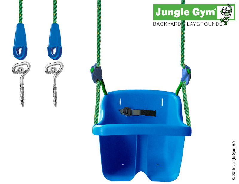 Jungle Gym Baby Swing blauw
