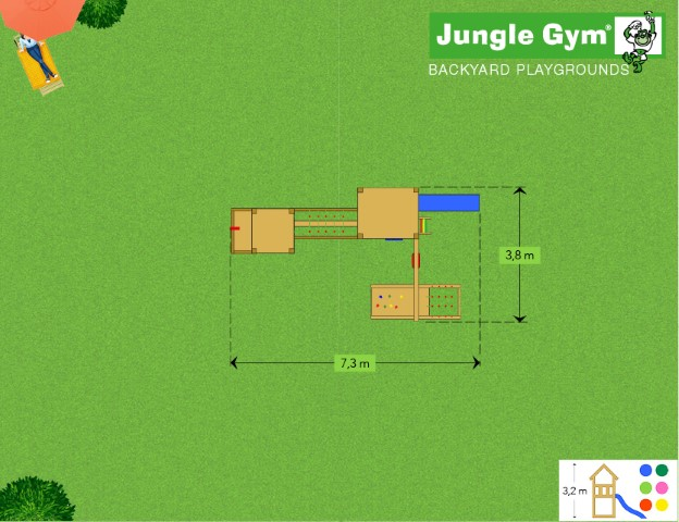 Jungle Gym grondplan combinatie Casa en Farm
